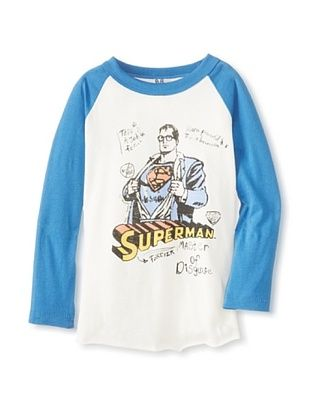 44% OFF Junk Food Kid's Superman Raglan Tee (Su/Rv)
