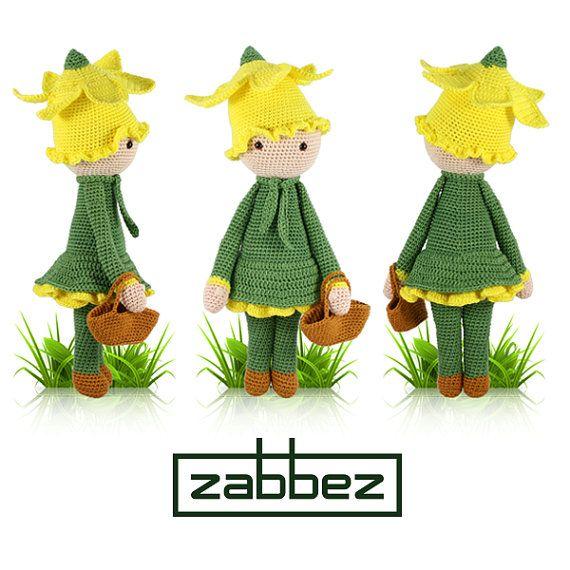 Häkelanleitung Amigurumi Puppe Narzisse Nancy PDF von Zabbez