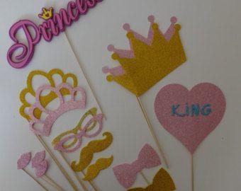 Princesa fiesta apoyos bigote en una fiesta de por PICWRAP en Etsy