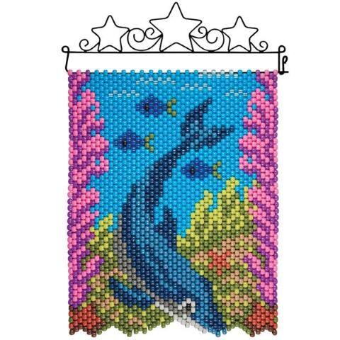 Herrschners® Dolphin Dive Beaded Banner Kit