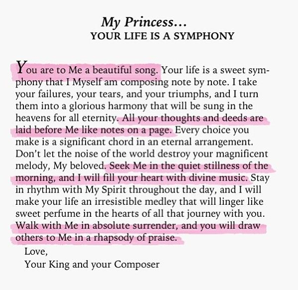 To My Princess... your life is a symphony