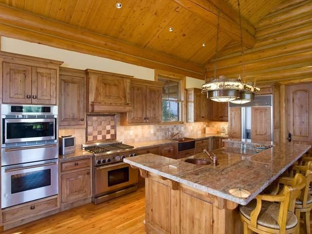 25 best Log cabin kitchens images on Pinterest | Log cabins, Log ...