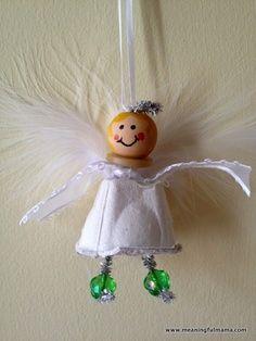 Meaningful Mama: Day #351 – Christmas Angel Egg Carton Craft | best stuff