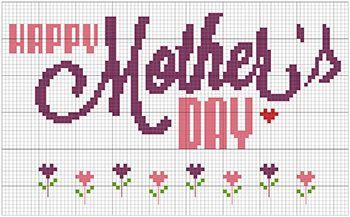 Happy Mother's Day cross stitch pattern available on #etsy =) #crossstitch #pattern #mothersday #specialoccasions #xstitch #stitchers #embroidery #pontocruz #esquemas #gráficos #charts #diy #giftsformothers