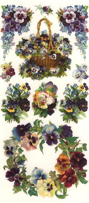Pansy stickers made in the USA @@@@@.....http://www.pinterest.com/susanakers/paper-victorian-scrap/