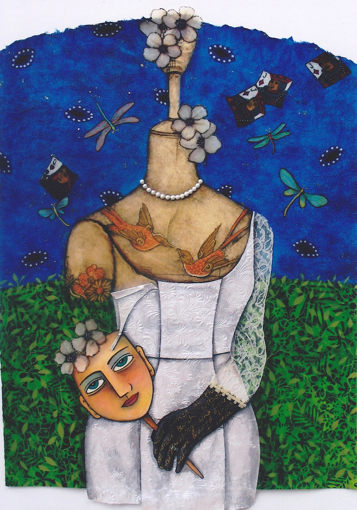 Waiting for love, mixed media collage by one of my favourite Perth artist Beba Hall