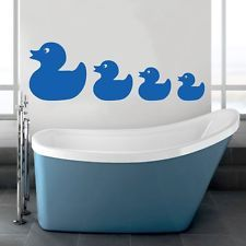 Duck family wall art sticker home decor decal removable bathroom