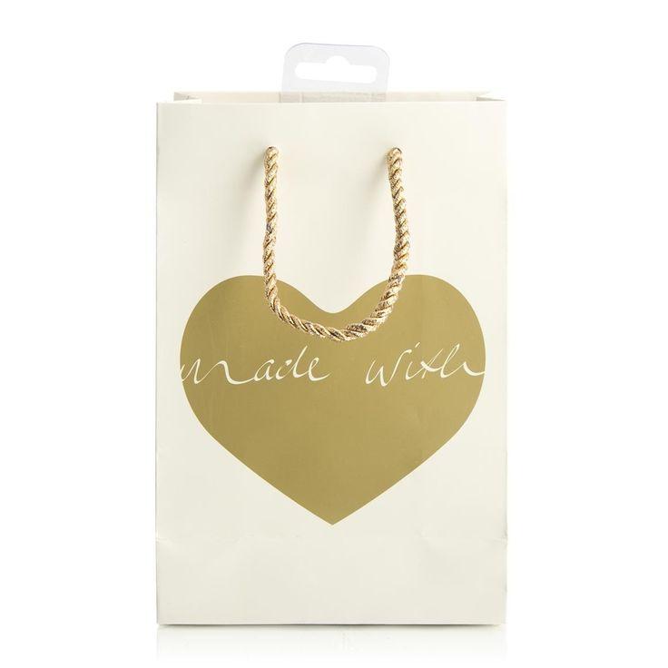 Foil Heart Small Gift Bag