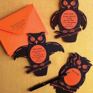 Halloween: Halloween Invitations, Halloween Parties, Owl Invitations, Halloween Cards, Templates, Diy Crafts, Martha Stewart, Parties Invitations, Owls