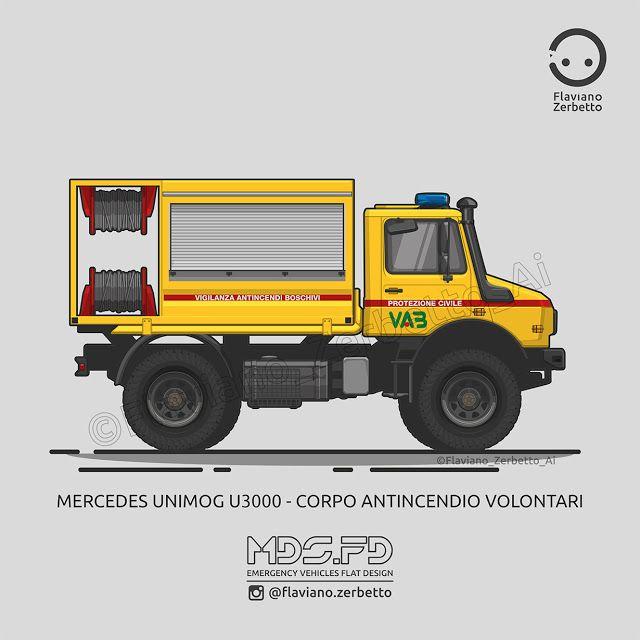 KombiT1: Mercedes Unimog U5000 - Protezione Civile