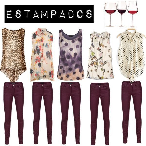 Pantalon Color vino