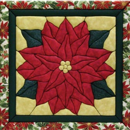 Quilted poinsettia