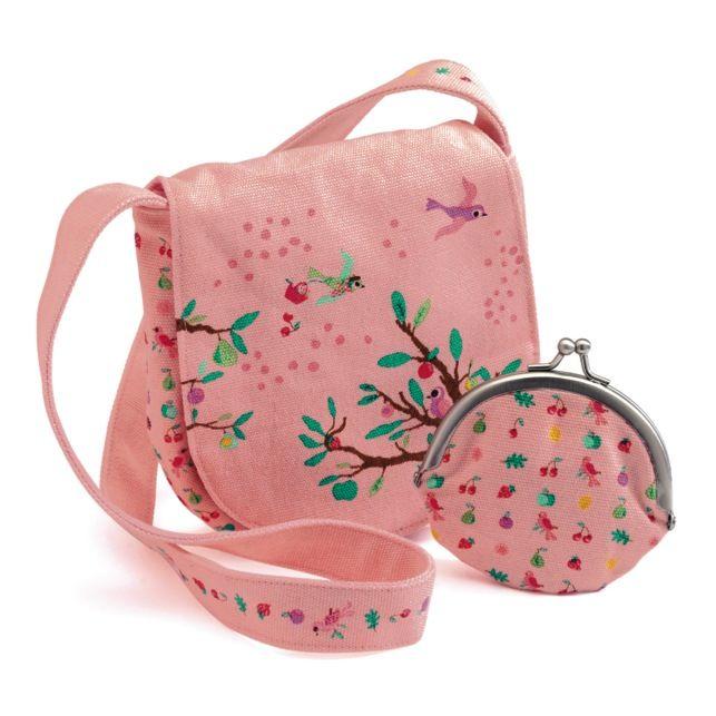 Set gentuta si portmoneu DJECO Summer Garden: un cadou cochet pentru o fetita care isi alege singura tinutele in fiecare zi :)