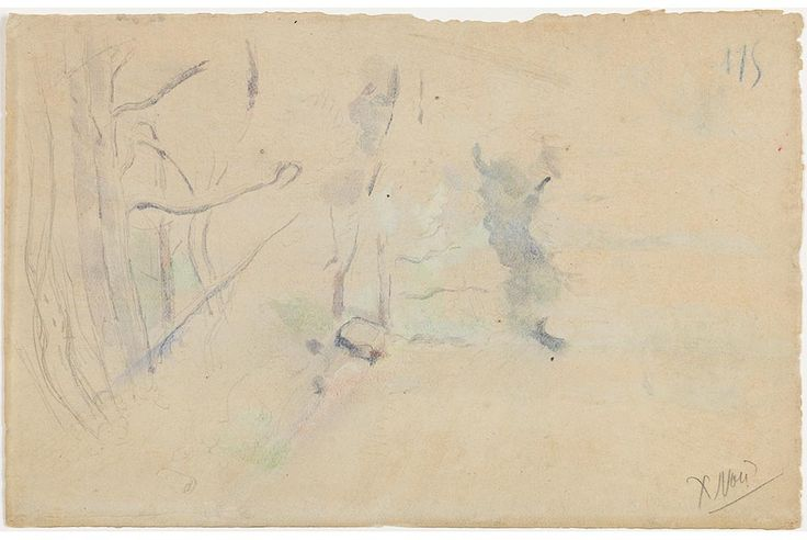 The Barnes Foundation discovers two sketches by Paul Cézanne behind watercolors