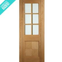 Deanta Kensington Pre-Finished Internal Oak Door with Clear Bevelled Glass