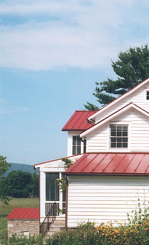 Anne Decker Architects Selected Works Renovations Virginia Farmhouse Red Roofmetal