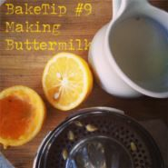 BakeTip Making Buttermilk If you don't have buttermilk on hand when a recipe asks for it simply make your own version by adding 3 teaspoons fresh lemon juice to a cup of full-cream milk. Perfect to use in scones, banana bread and muffins!