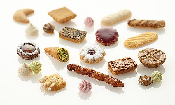 フールセック(クッキー詰め合わせ)・大缶 : 鉄板焼 銀座うかい亭 : コースの最後に供されていたお菓子をてみやげに
