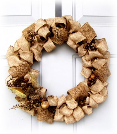 Nature Walk Wreath - May Arts Wholesale Ribbon Company Gorgeous and love the $ saving base wreath idea!