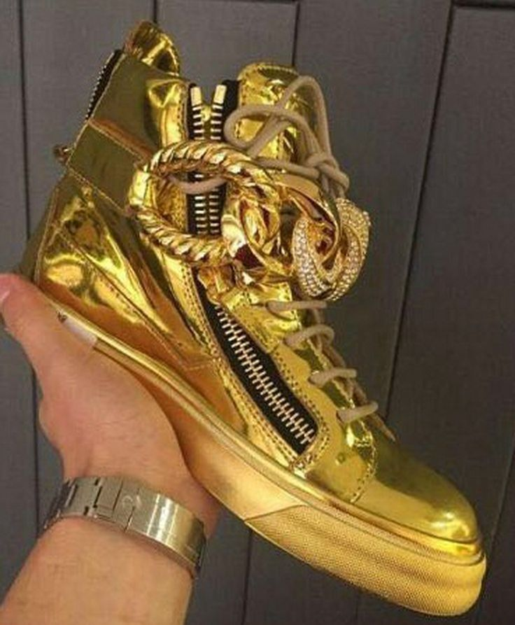 Giuseppe zanotti original leather gold sneakers