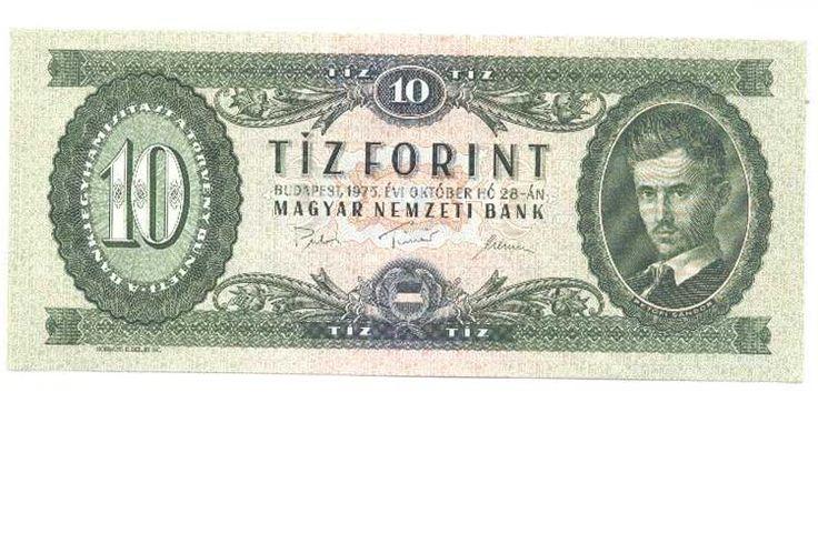 Hungary 10 Forint 1975 (P168) UNC