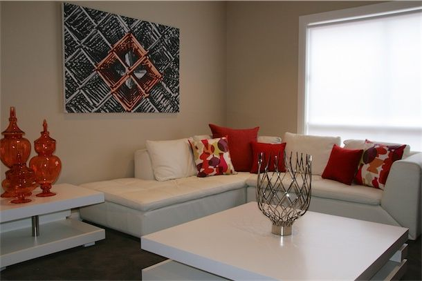 We used orange as the inspirational accent colour for this home decor. www.designarthouse.com.au