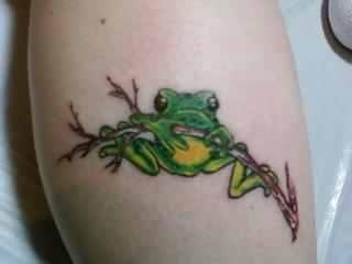 Frog done by Ray Basaldua at Ink N Fusion in Charlotte, NC https://www.facebook.com/InkNFusionTattooStudio