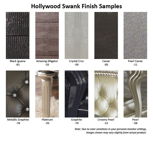Samples Of The Product Options For AICO Hollywood Swank East King  Upholstered Bed (3 Pc