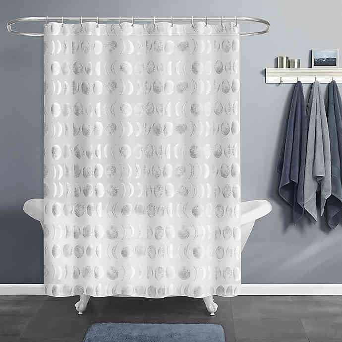 Moon Phase Peva Shower Curtain In Silver Bed Bath Beyond