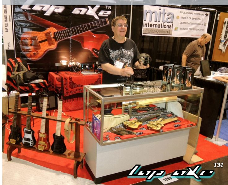 Lap axe travel guitars are a hit at NAMM 2015