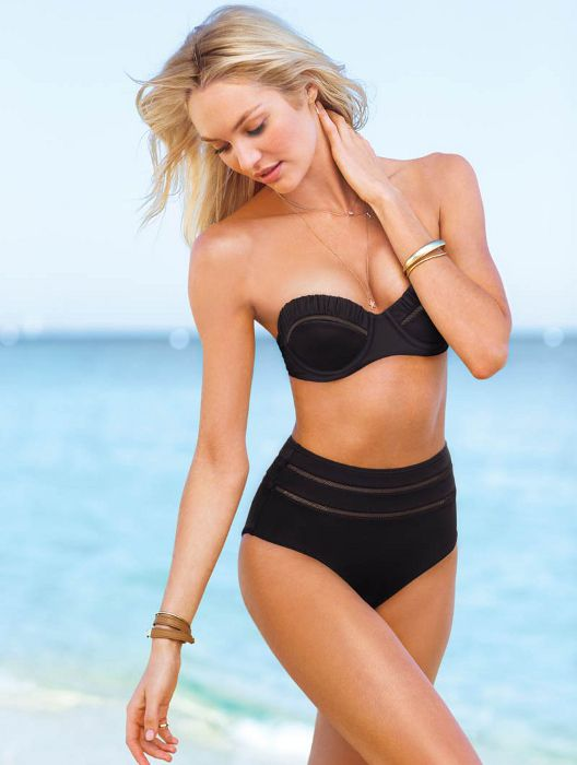 Victoria's Secret Swimsuits 2014- I want this so bad but Anthony thinks high waisted is weird.. Haha