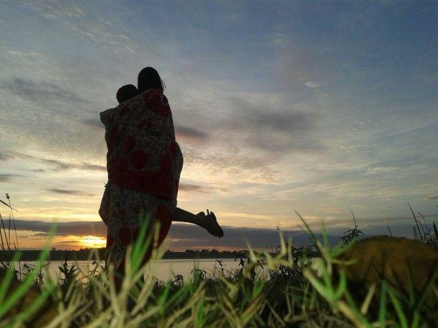 Nascer do sol com meu amor ! Mais que perfeito, vem das mãos de Deus !