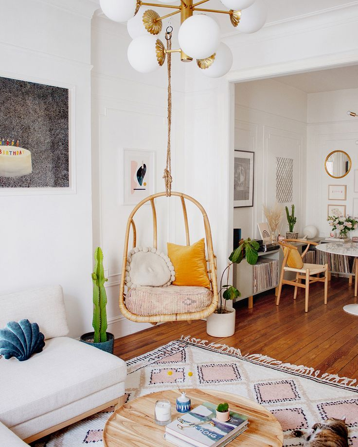 Colorful Bohemian Modern Brooklyn Apartment How To Get The Look Decor8 Budget Home Decorating Home Decor Boho Style Interior Design