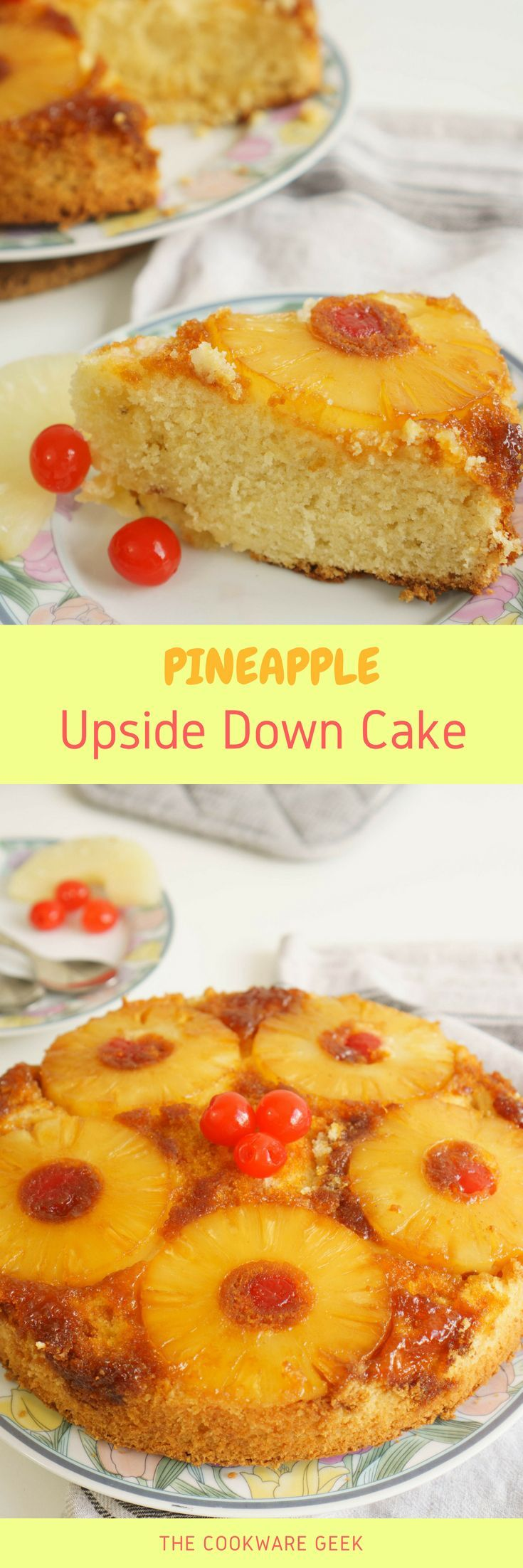 This pineapple upside down cake recipe has been in my family for a long time. It is one of our favorite cakes to eat at the family weekend reunion with a big cup of coffee.