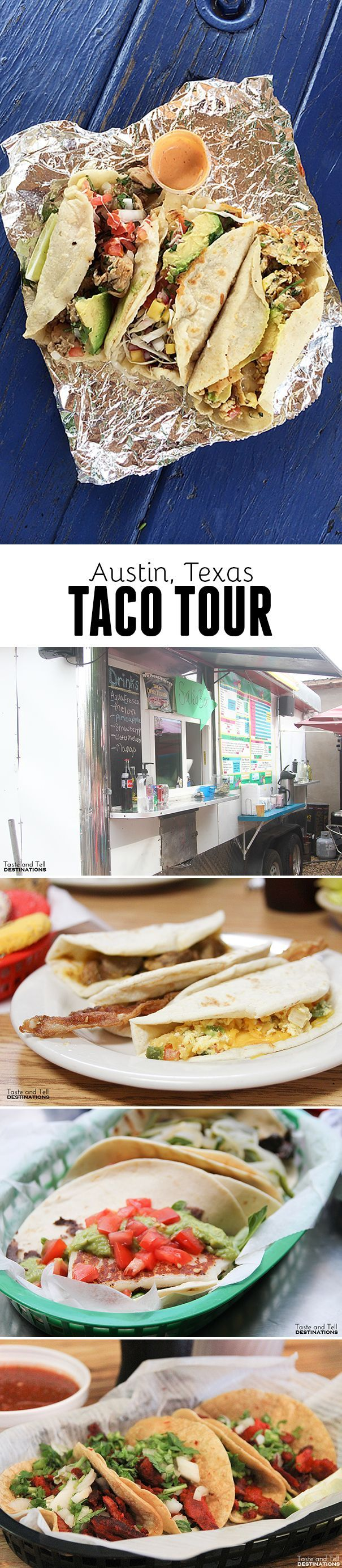 Taco Tour in Austin, Texas - 4 places to visit for great tacos! Good to keep in mind if I actually end up moving there.