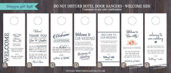 Do Not Disturb Door Hanger plus Welcome Note // by PrimroseAndPark