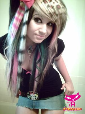 Miraculous 1000 Images About Emo Hair Styles On Pinterest Emo Scene Emo Short Hairstyles Gunalazisus