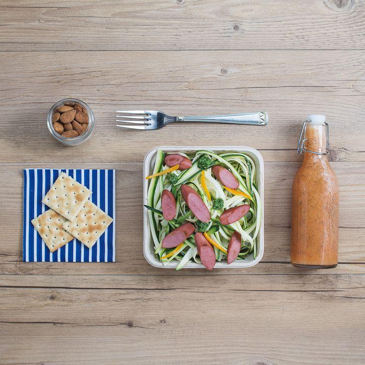 Tagliatelle di zucchine con pesto di rucola e Wudy      #LeIdeediAIA #AIA #ricette #schiscia #mangiare #viversano #ricetta #cucina #cucinare àcook #cooking #food #foodie #eat #eating #like