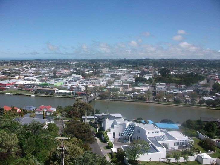 A beautiful view of Whanganui City from the top of the Durie Hill Elevator.