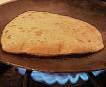 Sometimes we have fresh chapatis, they are amazing!