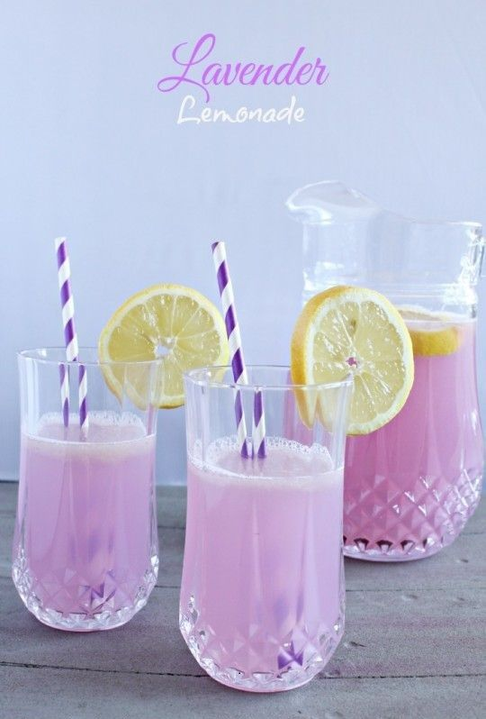 Lavender Lemonade Recipe ~ 1/2 cup Honey + 1/2 cup water for sweet syrup ~ ADD ~  1 drop Lavender essential oil & 2 drops Lemon essential oil ~ POUR ~ Syrup into 1 1/4  cups squeezed Lemon Juice ~ ADD ~  6 cups of water