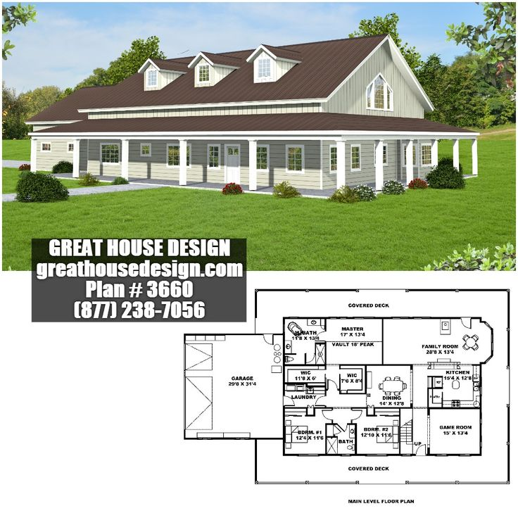 nice country home building plans. Country Home Plan with Wrap around Deck  3660 Toll Free 877 106 best Standard 2x6 Framed Homes By Great House Design images on