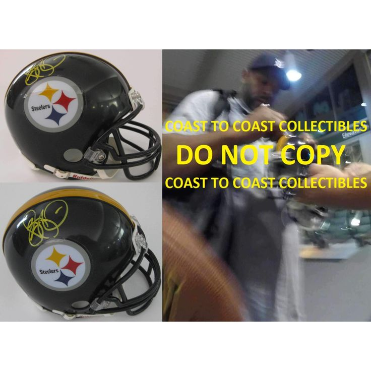 Jerome Bettis, Pittsburgh Steelers Signed, Autographed, Football Mini Helmet, a COA with the Proof Photo of the Jerome Signing the Helmet Will Be Included