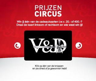 Digined lanceert op voor V&D Prijzencircus   Digined
