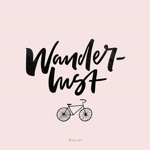 Страсть к путешествиям на велосипеде #laruart #wanderlust #lettering #letteringdesign #designer #design #brush #brushlettering #brushtype #calligraphy #modern #каллиграфия #леттеринг #typer #thedailytype #illustration #type #typedesign #typegang #typography #inspiration #art #буквы #слова #вдохновение #дизайнер #иллюстрация  #Regram via @laru.art