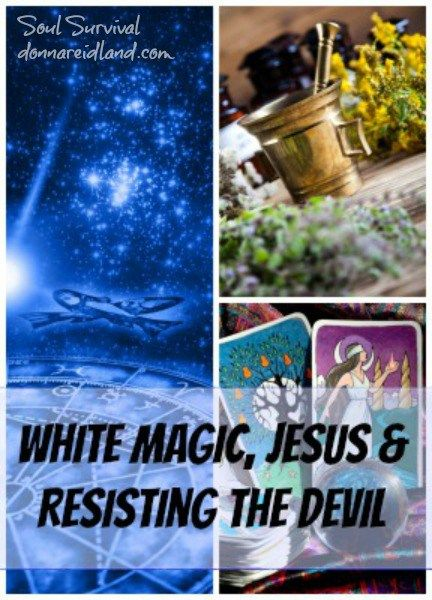 """""""White Magic, Jesus & Resisting the Devil"""" 5.13 Is there any such thing as white magic? Is it OK for Christians to read their horoscopes or study astrology or numerology? Is there anything wrong with tarot cards, cleansings, Ouija boards, and palm reading?  Have you ever dabbled in those things? Would you know how to talk to someone who has?  If there is a spiritual world out there, should we be afraid of it? How do we resist those things?"""