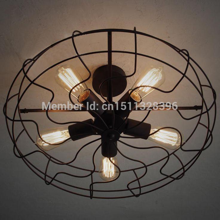 Винтаж Сарай Металла Полу Заподлицо Свет Макс 300 Вт С 5 Потолочные Лампы Для Кафе-Бар Кафе Клуб Ресторан Магазин