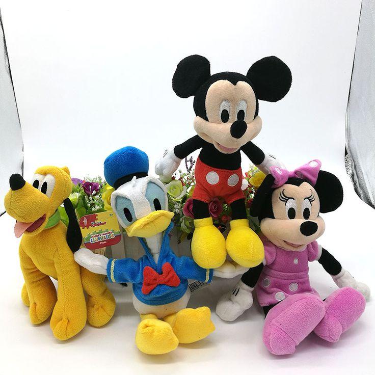 MINNIE mouse mickey mouse pato donald pluto el perro 25 CM Juguetes de peluche Animales de Peluche de juguete Para Niños juguetes de peluche juguetes de los niños