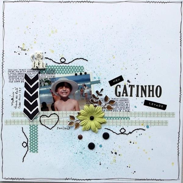 Lolô Artesanato: Meu Gatinho Levado - Desafio Fevereiro Scrap Movies