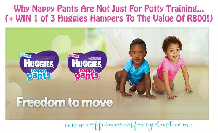 Maybe it is just me, but I always thought that nappy pants (pull-ups) were only for when you start potty training your toddler... well, apparently not.